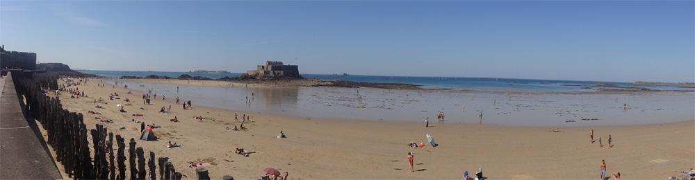 Saint Malo, the highest tides in Europe
